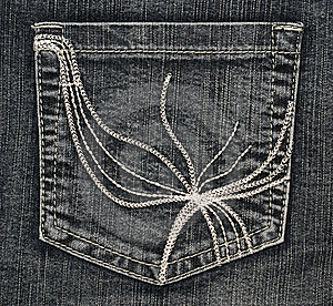 Structure Of Jeans (pocket) Stock Images - Image: 7957064
