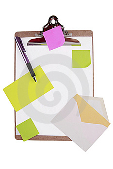 Clipboard With Sticky Notes And Cards Stock Photos - Image: 7957273