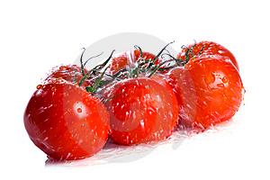 Tomatoes Under Pouring Water Royalty Free Stock Photo - Image: 7957545