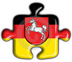 Lower Saxony Button Flag Puzzle Shape Royalty Free Stock Photo - Image: 7957685
