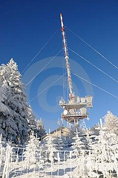 Transmitting Station In Winter No.1 Stock Image - Image: 7958131