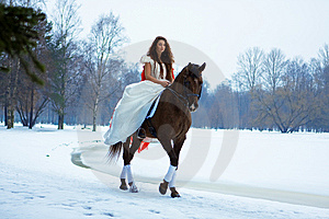 Woman On A Horse Stock Photos - Image: 7959213