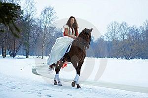 Końska Kobieta Zdjęcia Stock - Obraz: 7959213