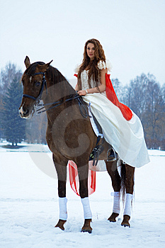 Woman On A Horse Royalty Free Stock Photo - Image: 7959235