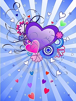 St.Valentine's Day Blue Background Royalty Free Stock Images - Image: 7960129