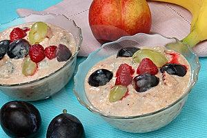 Fruit Yogurt With Fresh Fruit Royalty Free Stock Photography - Image: 7962257