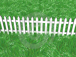 Fence On A Summers Day Stock Photography - Image: 7962382