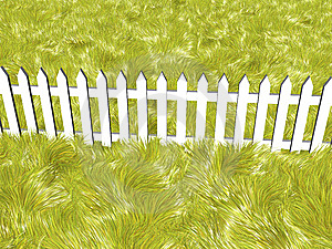 Fence On A Summers Day Royalty Free Stock Photos - Image: 7962408