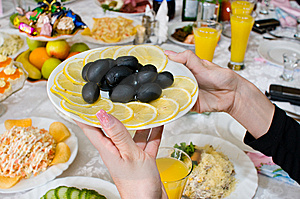 Black Olives And Lemons. Stock Images - Image: 7962654