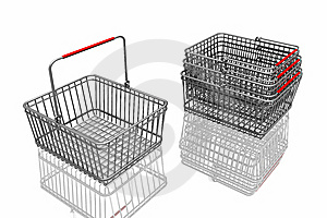 3d Baskets Royalty Free Stock Photography - Image: 7962727