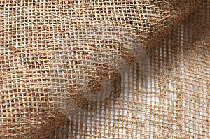Ecological Material: Sackcloth. Stock Photo - Image: 7963330