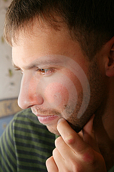 Young Man Portrait, Thinking Stock Photos - Image: 7963643