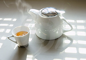 Tea And Tea Set Royalty Free Stock Photography - Image: 7963937