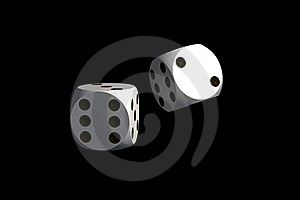 Dices - Isolated On Black Stock Photos - Image: 7963973