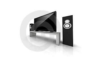 Home Theater / High Definition Television Stock Images - Image: 7963974