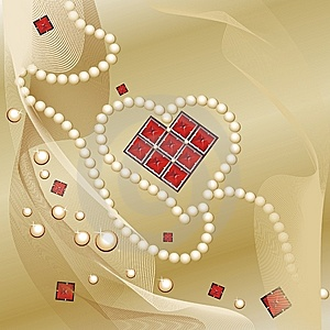 Background With An Adorning In The Form Of Heart Royalty Free Stock Photography - Image: 7964127