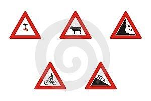 Driving Warning Signs Royalty Free Stock Image - Image: 7964146