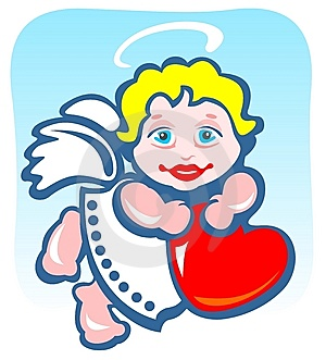 Angel With Heart Stock Photos - Image: 7965243