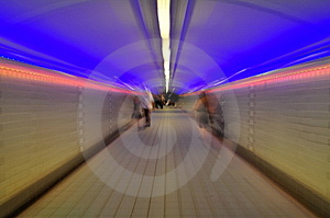 Pedestrial Tunnel Blur Stock Photos - Image: 7966333