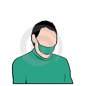 Vector Surgeon Work Suit Face Royalty Free Stock Image - Image: 7967596