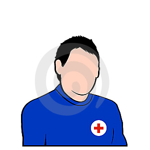 Red Cross Rescure Face Avatar Stock Image - Image: 7967631