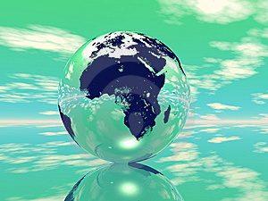 Globe In Green Background Royalty Free Stock Photography - Image: 7967707