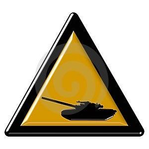 Tan Warning Sign Stock Photo - Image: 7968650