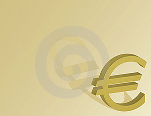Euro Symbol On A Gold Background Royalty Free Stock Images - Image: 7968999