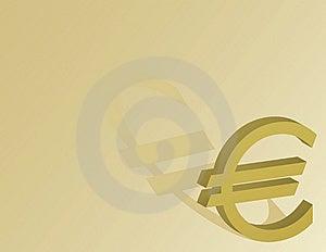 Símbolo Do Euro Em Um Fundo Do Ouro Imagens de Stock Royalty Free - Imagem: 7968999