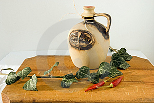 Composition With Bottle Of Wine Stock Photo - Image: 7969540