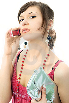 Beautiful Woman Talking On The Cellphone Stock Photo - Image: 7969590