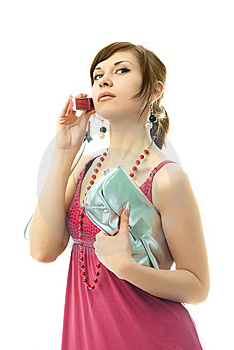 Beautiful Glamorous Woman Talking On The Cellphone Royalty Free Stock Photography - Image: 7969597