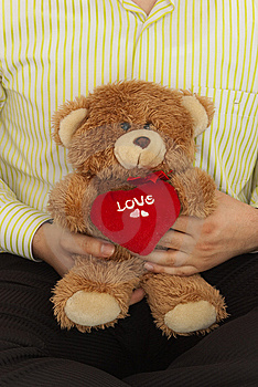 Male With Teddybear Stock Photo - Image: 7971080