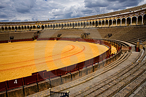 Bullring Plaza De Toros In Sevilla Stock Photo - Image: 7971160