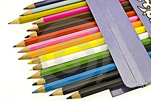Colorful Pencils In Box Stock Photos - Image: 7971333