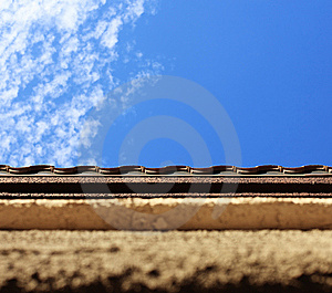 Textured Wall And Sky Royalty Free Stock Photography - Image: 7971627