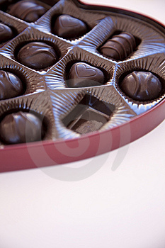 Box Of Chocolates With One Chocolate Missing Stock Image - Image: 7971781