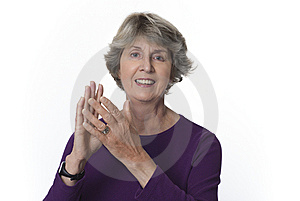 Senior Woman Applauding Royalty Free Stock Images - Image: 7972169