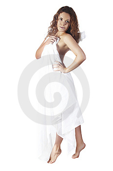 Girl  With A Towel Stock Photo - Image: 7973900