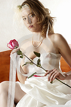 Bride And Rose Royalty Free Stock Photography - Image: 7973947