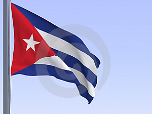 Cuban Flag Stock Photo - Image: 7974780