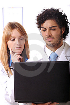 Young Doctors Use Laptop Stock Images - Image: 7975034
