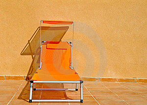 Orange Sun Lounger Royalty Free Stock Image - Image: 7975236