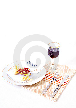 Romantic Meal Setting Royalty Free Stock Photos - Image: 7975518