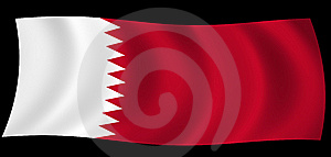 Qatar State Of Flag In The Wind Stock Image - Image: 7976581