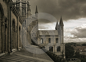 View From The Tower Of Ely Cathedral Royalty Free Stock Images - Image: 7976699