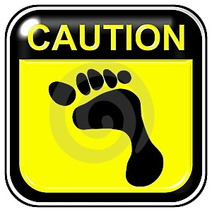 Caution - Footstep Royalty Free Stock Images - Image: 7978159
