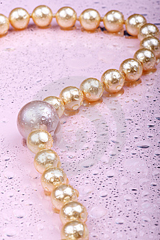 Wet Pearls On Pink Stock Photos - Image: 7978223