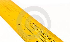 Yellow Ruler Stock Photo - Image: 7979290