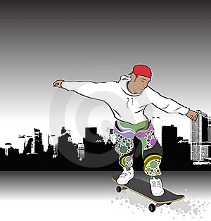 Skateboarder Abstract Royalty Free Stock Photos - Image: 7979648